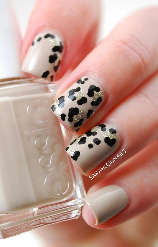 Leopard sparkle on Grey