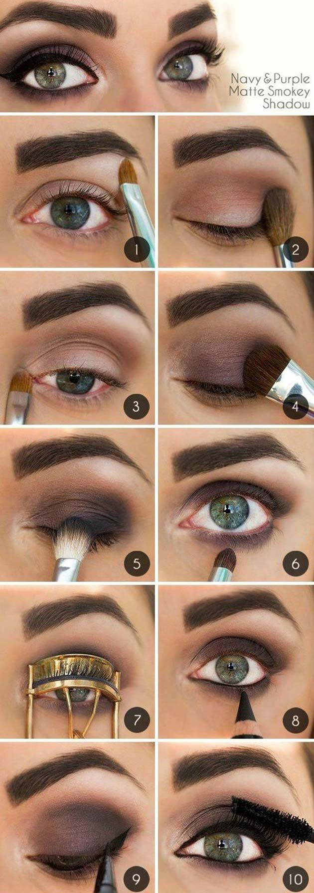 Matte smokey eyes for fall