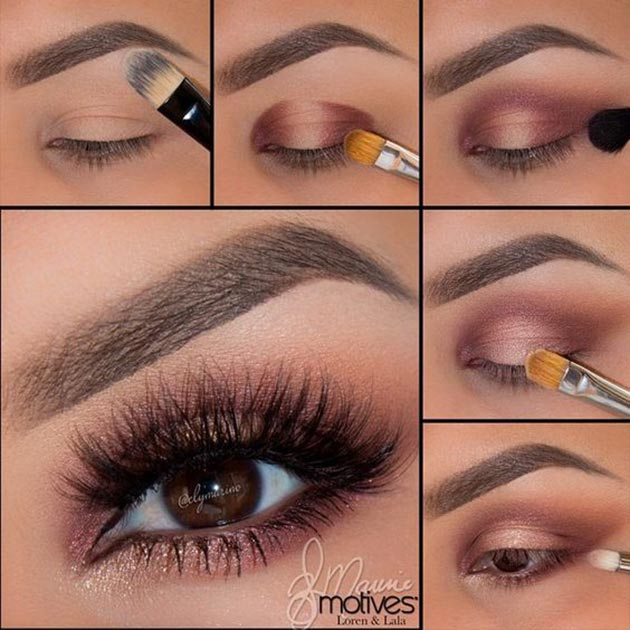 Shimmery eye makeup for fall