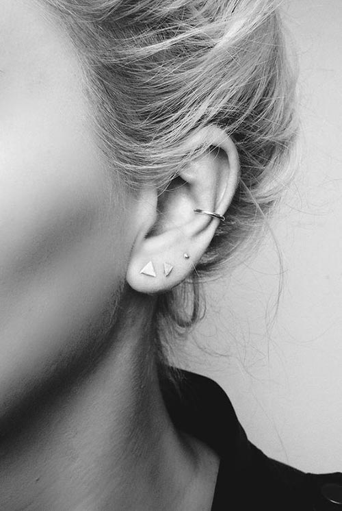 Totally chic ear piercing