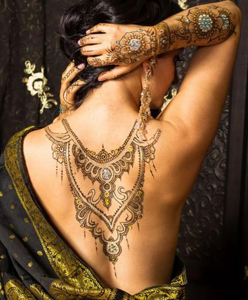 back necklace henna design