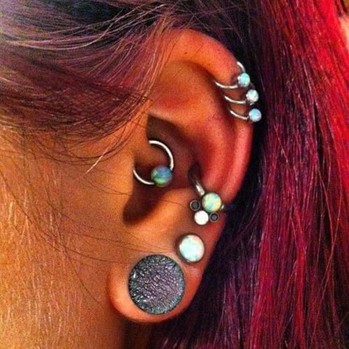 cool multiple ear piercing ideas