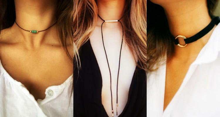 DIY choker neclace tutorial