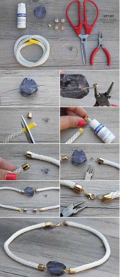 DIY rope choker necklace