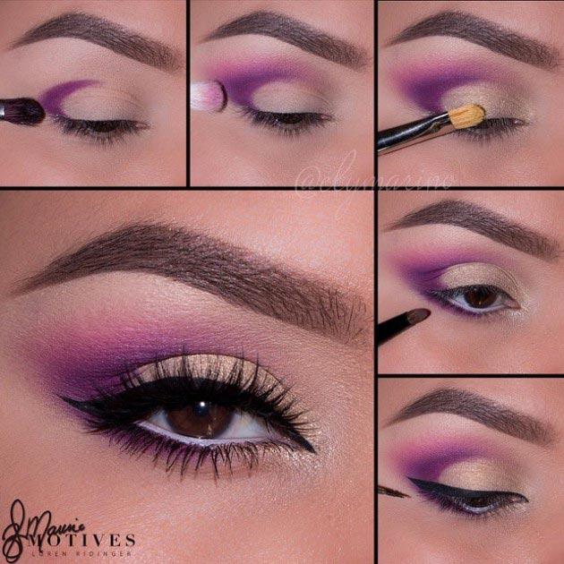 Pretty purple with light goldish