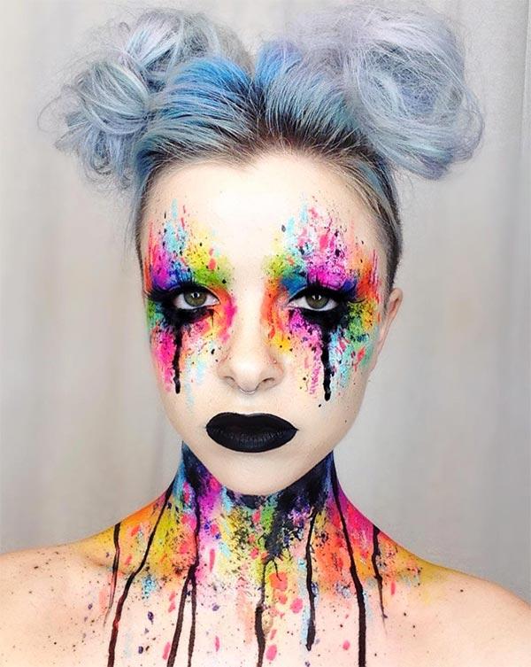 color explosion creative halloween makeup