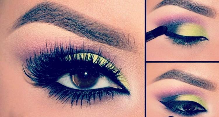 flattering colorful eye makeup for brown eyes