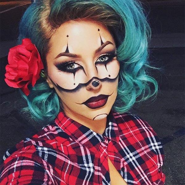 gangster clown halloween makeup
