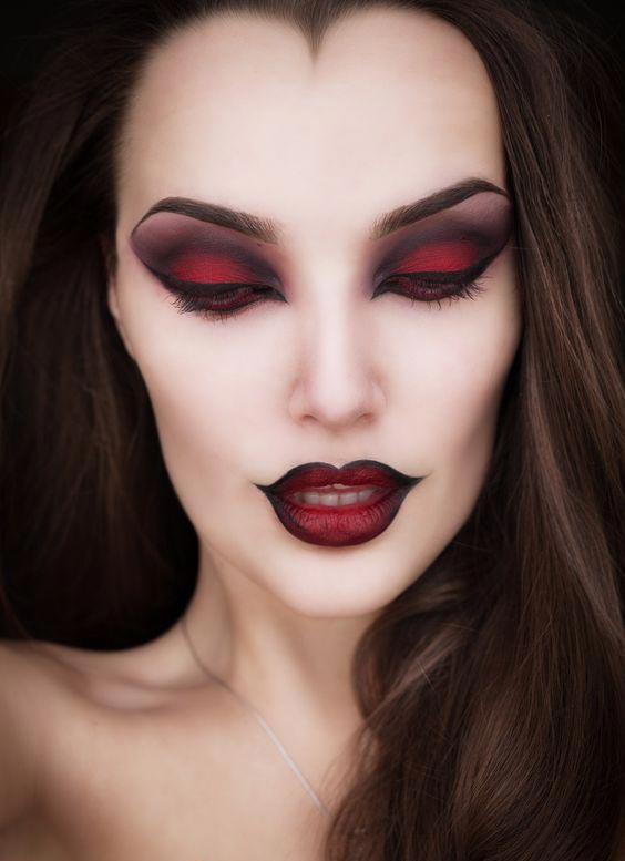 glamourous vamp makeup