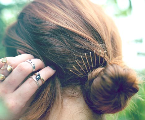 Bobby pins bun crown