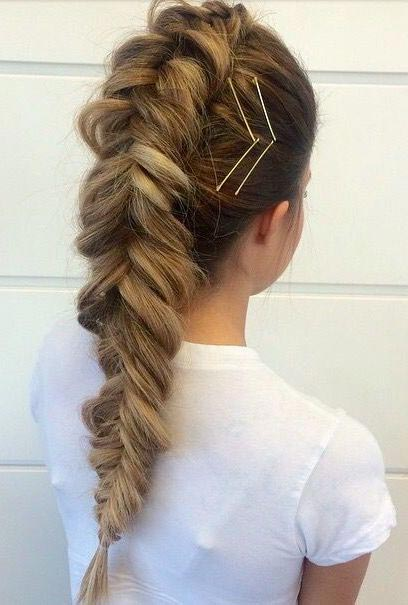 Bobby pin hair art with braids