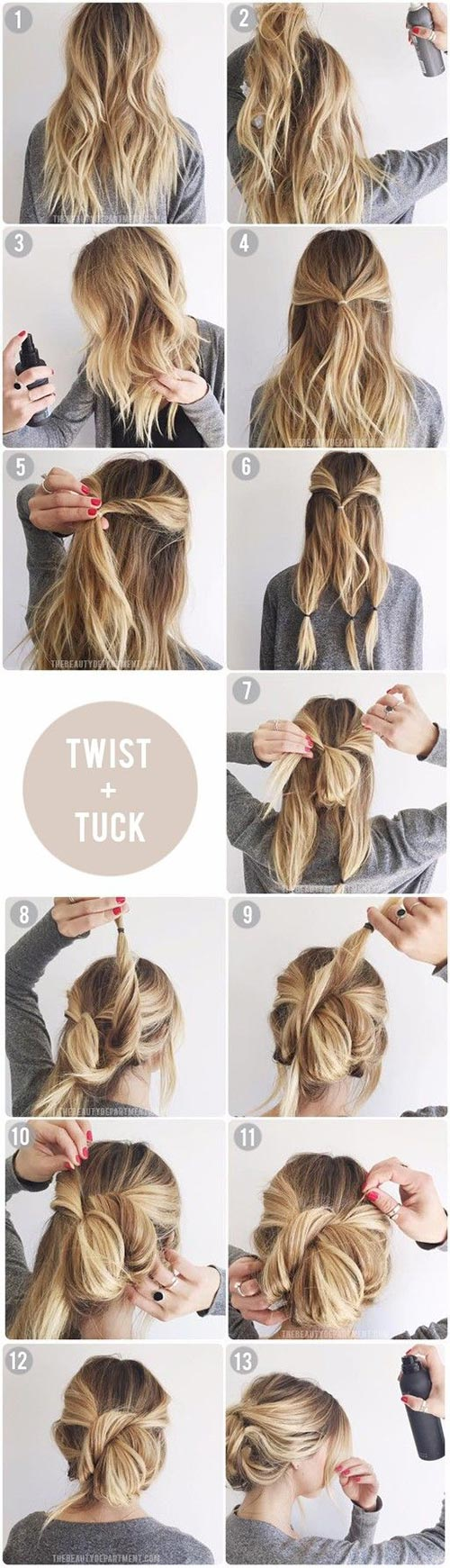 easy hair up styles to do yourself top 10 updo tutorials for different hair lengths 5520