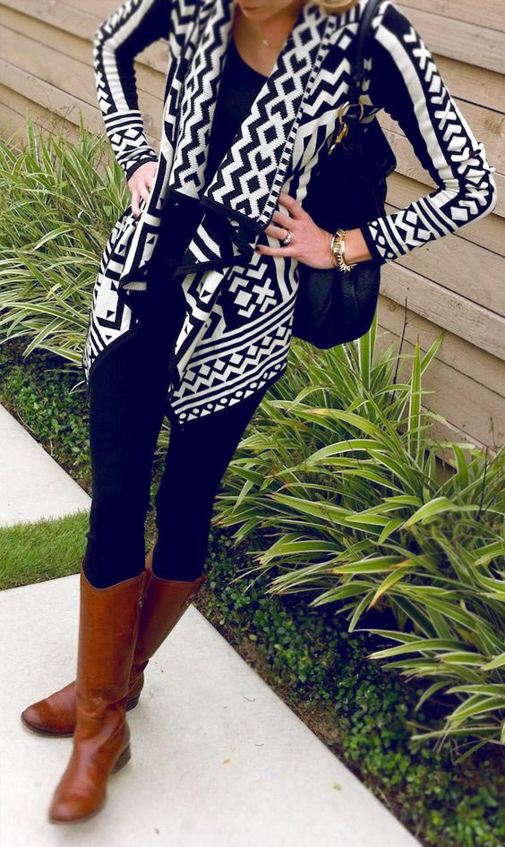 Fall outfit-tribal cardigan