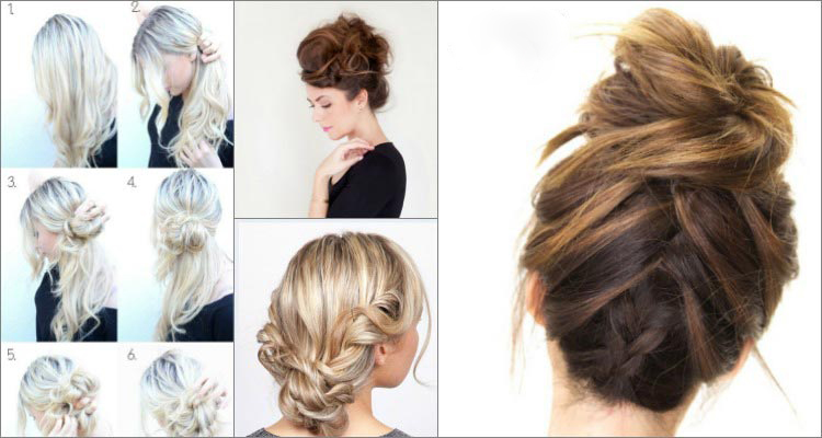 Low braided updo tutorial