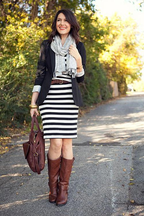 Pretty fall outfit with scarf