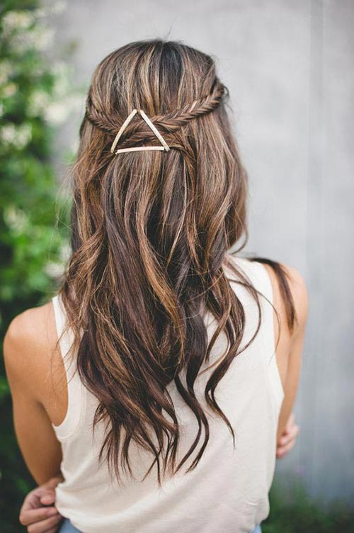 Try triangle with bobby pins