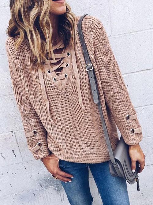 fall fashion nude knit