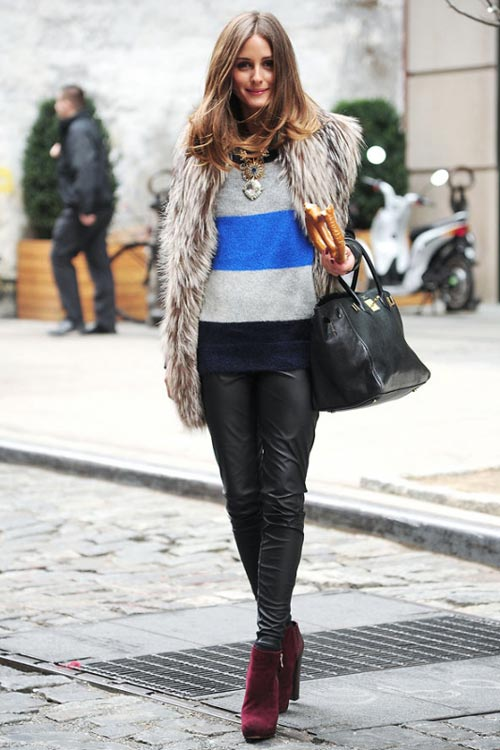 fall outfits-fur sweater
