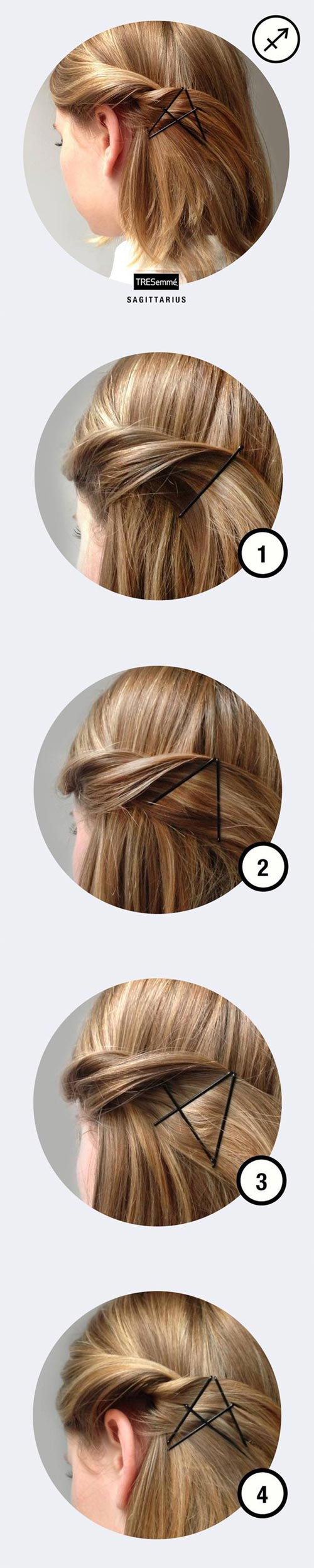 star bobby pin tutorial