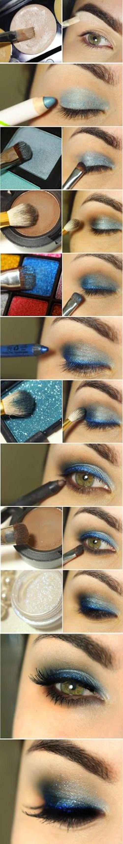 Experiment with colours like this blue shadow