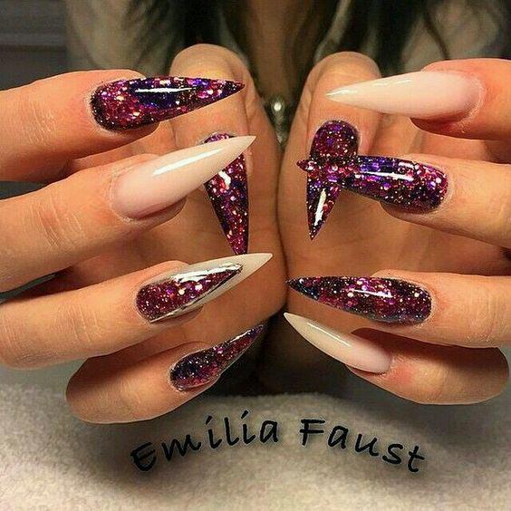 Galaxy inspired nails