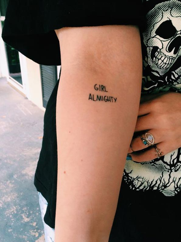 Girl Almighty tattoo