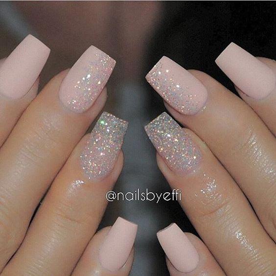 Glittery nude shade