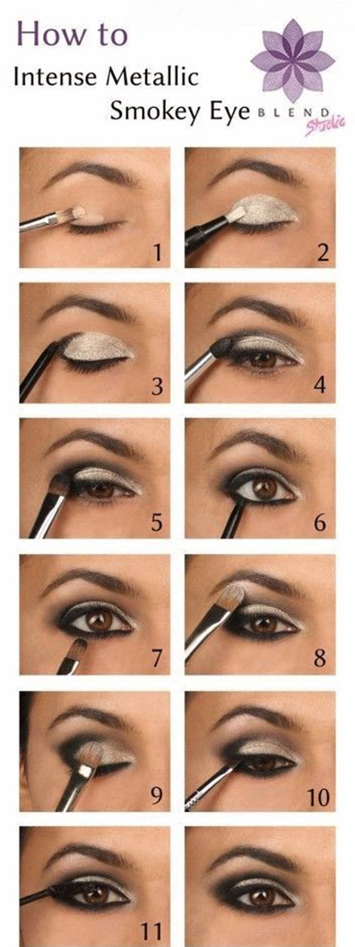 Intense chic metallic eye makeup tutorial
