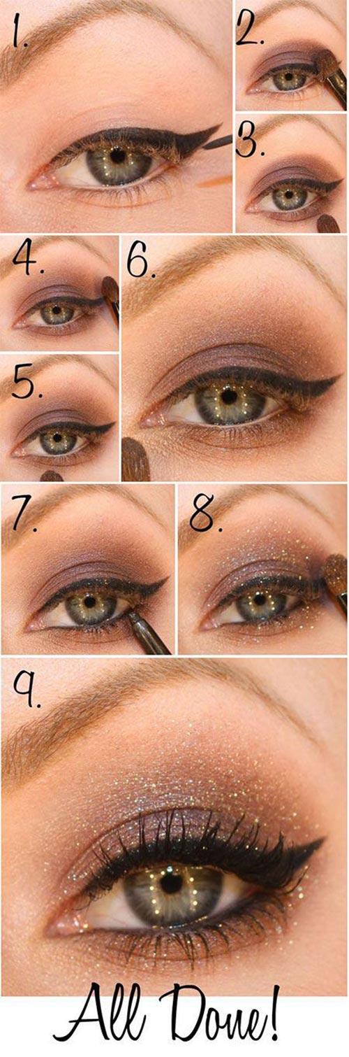 Little shimmer eye makeup tutorial