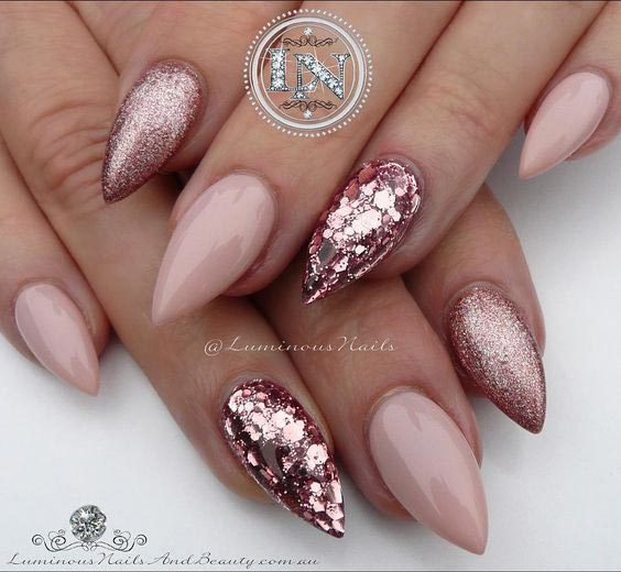 Perfect rose gold and nude combo