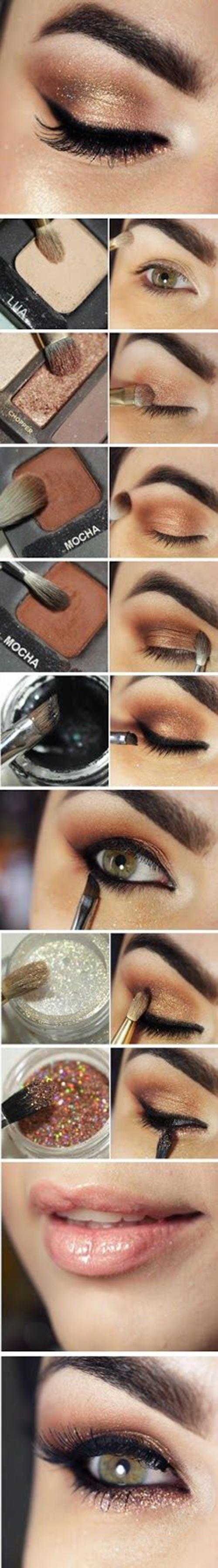 Perfect rose gold eye makeup tutorial