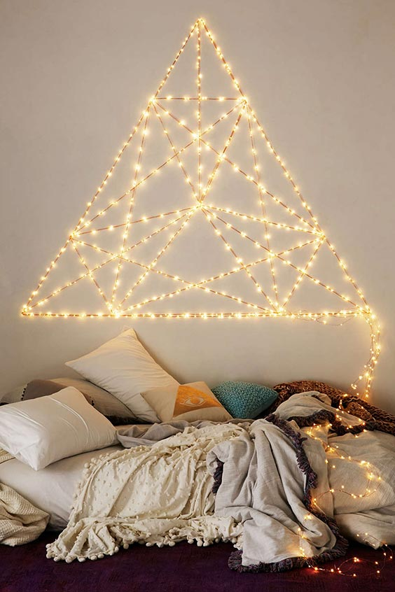 Triangled lights string lights decor