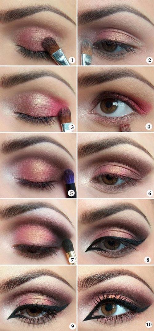 Try the trendy cut crease eye makeup tutorial