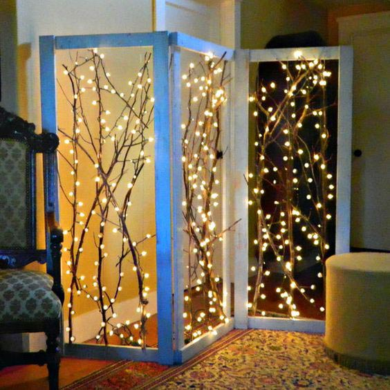 Incredible light tree room divider