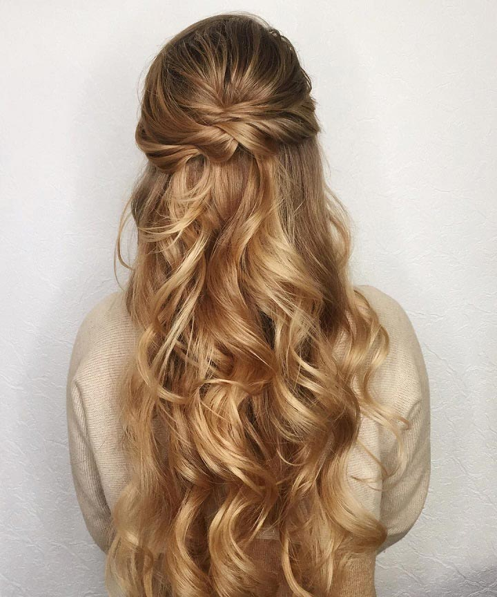 Wedding Party Hairstyle For Thin Hair: 11 Gorgeous And Elegant Half Up Half Down Hairstyles