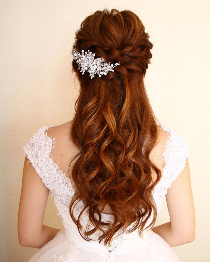 Half Up Half Down Braided Wedding Hairstyles: 11 Gorgeous Half Up Half Down Hairstyles