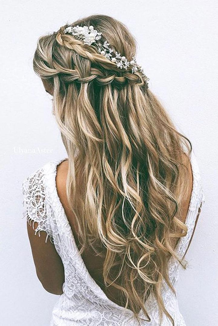 Waterfall with braid hairstyle