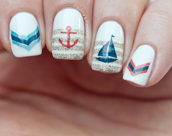 Sailboat on stripes