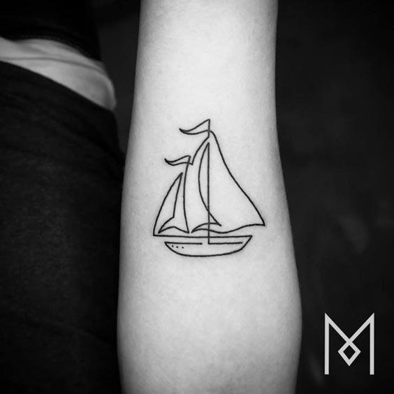 one line tattoo mo ganji 11