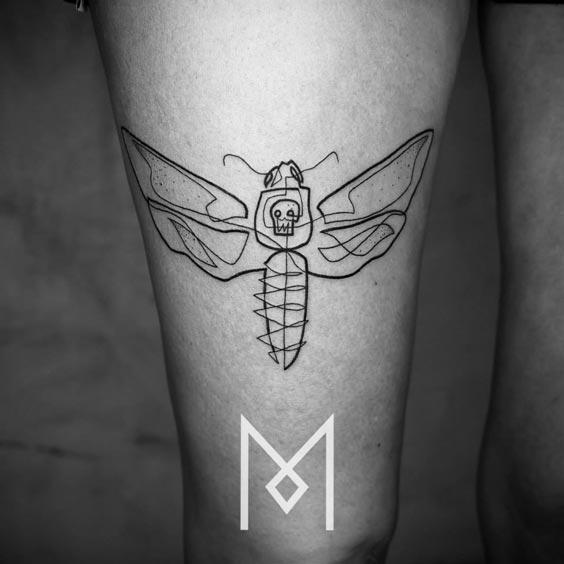 one line tattoo mo ganji 12
