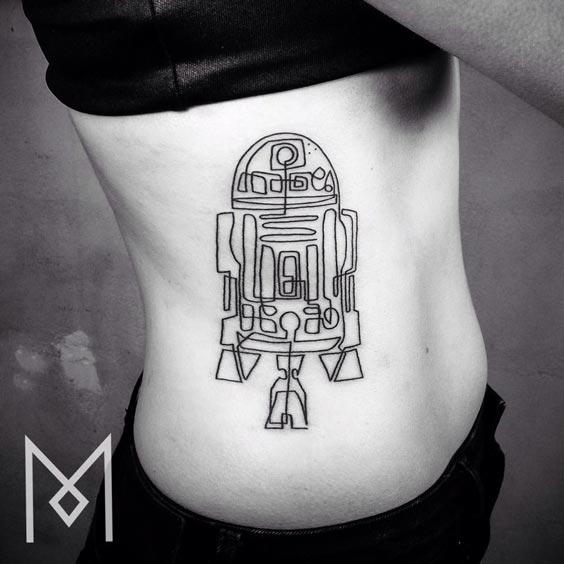 one line tattoo mo ganji 14