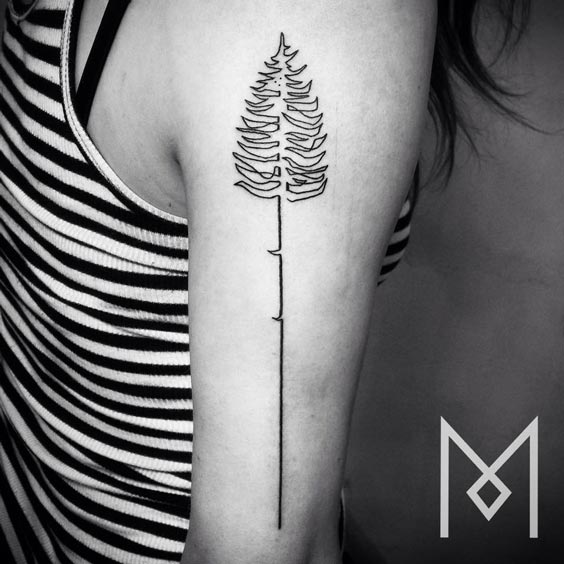 one line tattoo mo ganji 15