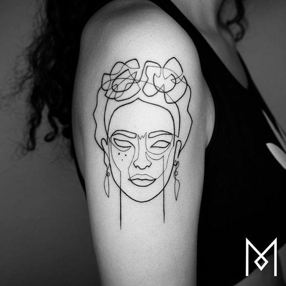 one line tattoo mo ganji 6