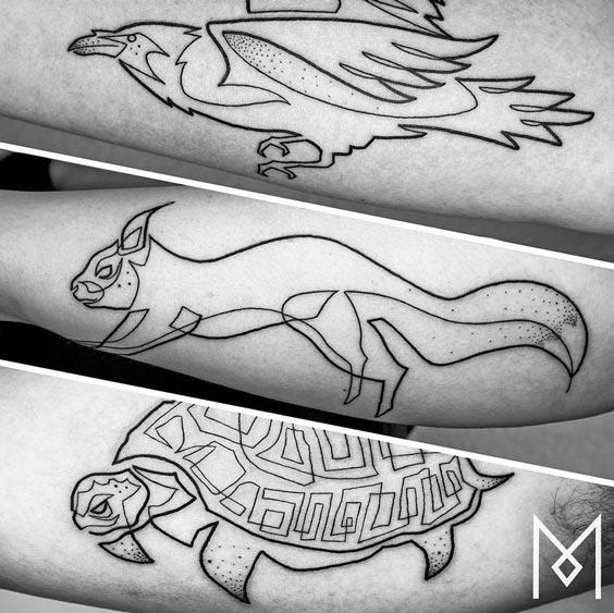 one line tattoo mo ganji 9