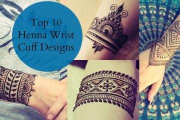 Top henna wrist cuff designs