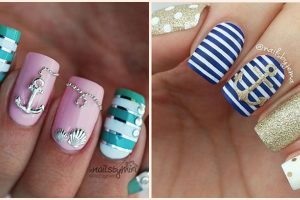 Nautical Nail Art Designs