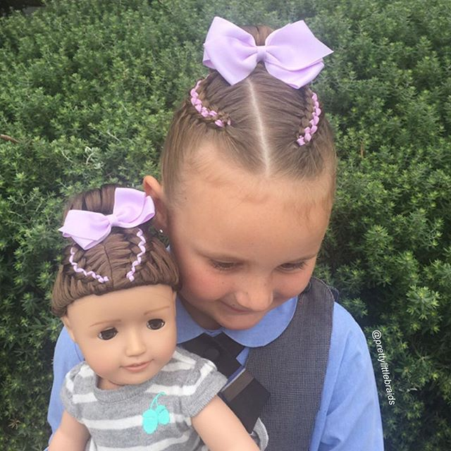 5 strand ribbon braids with a bow