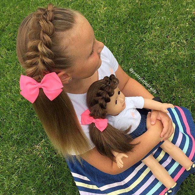 Hairband pull through braids