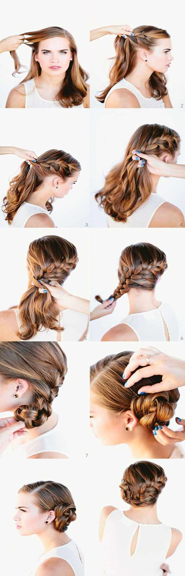 Braid and side bun