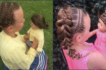 mom daughter doll braids hairstyle